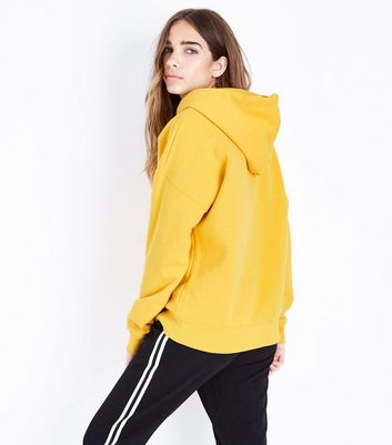 Yellow Oversized Hoodie New Look