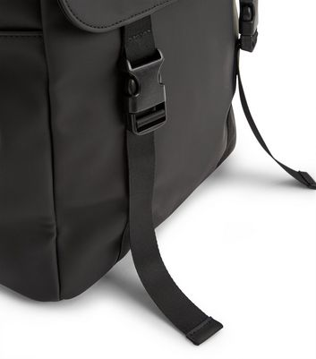 Black Double Strap Backpack New Look