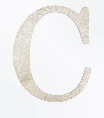 Gold Glitter Decorative C Initial New Look