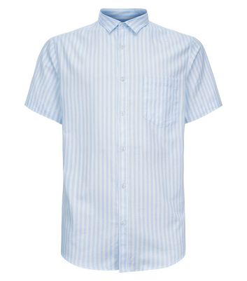Blue Stripe Short Sleeve Shirt New Look