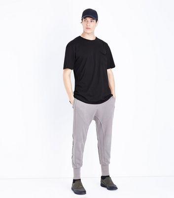 Black Pocket Front Boxy T-Shirt New Look