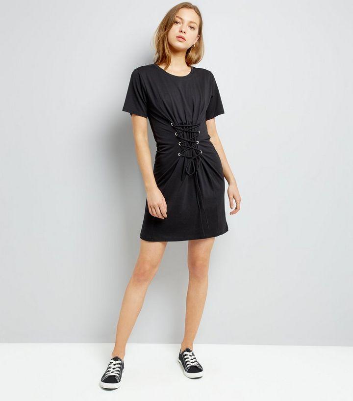 dc0beb15b007 ... Black Corset Lace Up T-Shirt Dress. ×. ×. ×. Shop the look