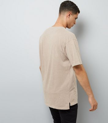 Nude Pocket Front T-Shirt New Look