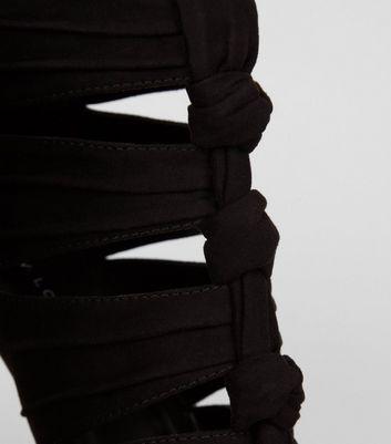black-suedette-knot-front-heeled-sandals