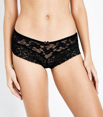 Black Lace Brazilian Briefs New Look