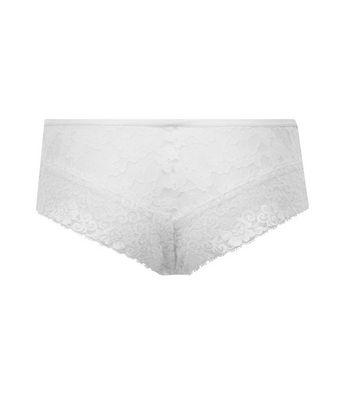 Cream Lace Brazilian Briefs New Look