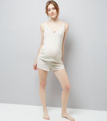 Maternity Satin Trim Pyjama Cami New Look