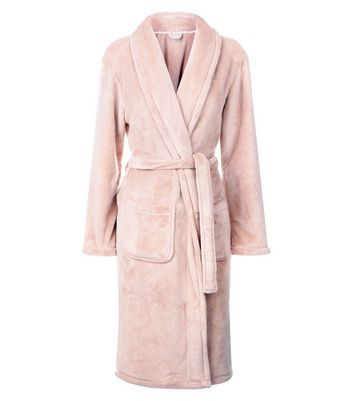 Pink Fluffy Longline Robe New Look