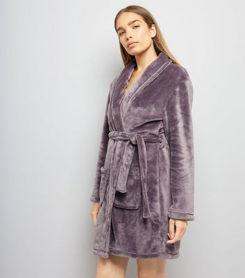 Purple Fluffy Robe New Look