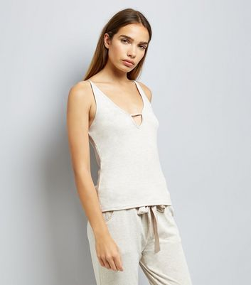 Tall Cream Brushed Jersey Pyjama Cami New Look
