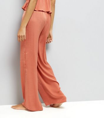 Tall Pink Wide Leg Pyjama Trousers New Look