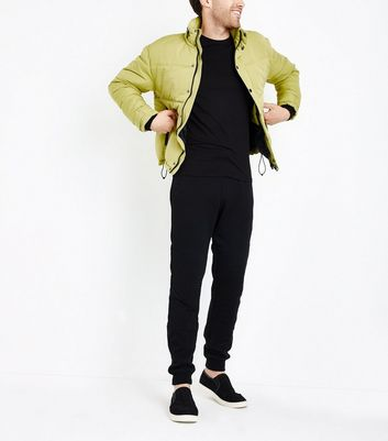 Green Short Puffer Jacket New Look