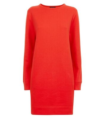 Red Sweater Dress New Look