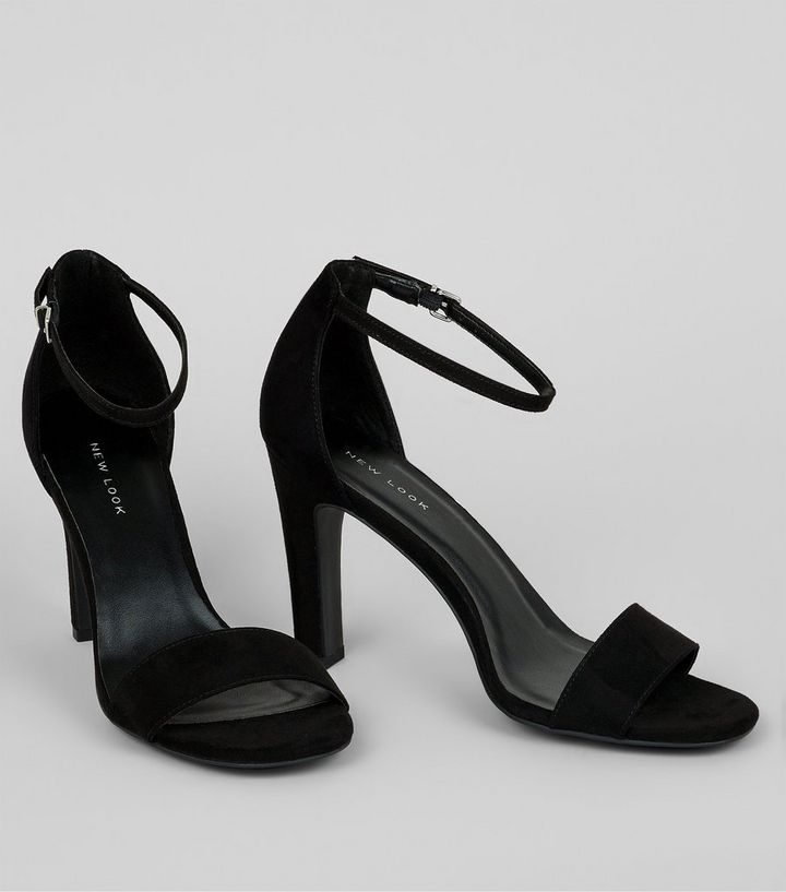 94688406ab6 ... Black Suedette Slim Block Heel Sandals. ×. ×. ×. Shop the look