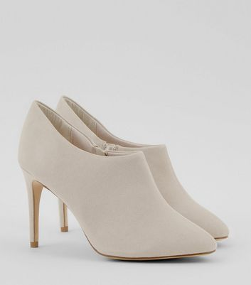 Grey Suedette Low Cut Ankle Boots New Look