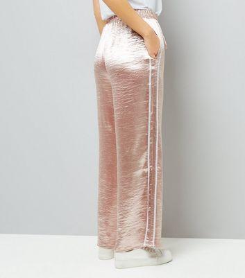 Pink Vanilla Pink Satin Wide Leg Trousers New Look