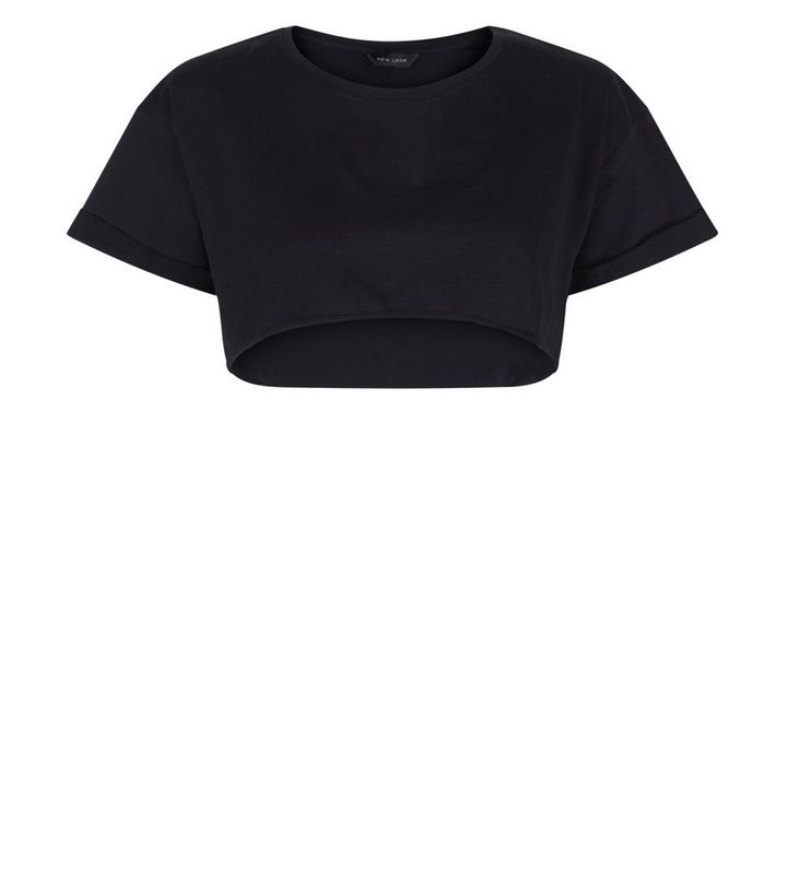 48fb04e5ea9d0a ... Black Short Sleeve Extreme Crop Top. ×. ×. ×. Shop the look