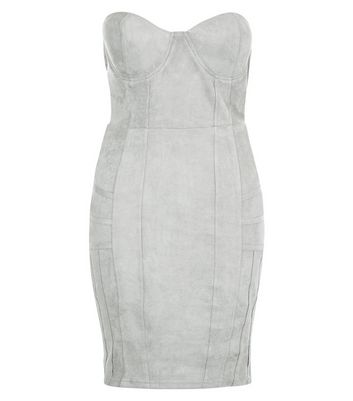 AX Paris Grey Bandeau Dress New Look