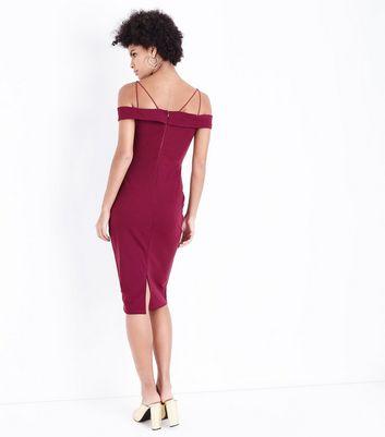 AX Paris Plum Strappy Midi Dress New Look
