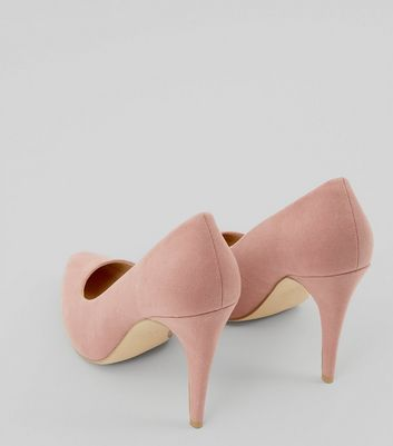 Pink Suedette Cone Heel Pointed Court Shoes New Look