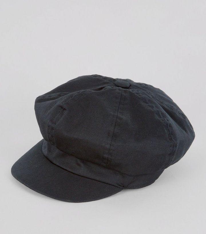 Black Baker Boy Hat  20e02497f04