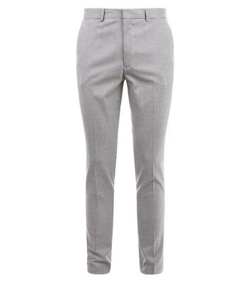 Black Houndstooth Skinny Trousers New Look