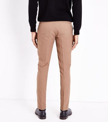 Camel Skinny Suit Trousers New Look