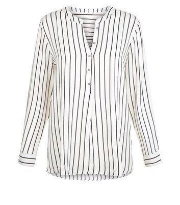 JDY White Stripe V Neck Blouse New Look