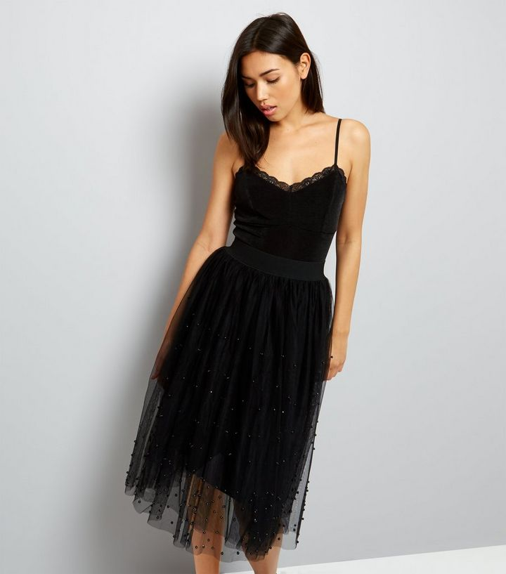 well known hot-selling cheap new york Black Tulle Midi Skirt Add to Saved Items Remove from Saved Items