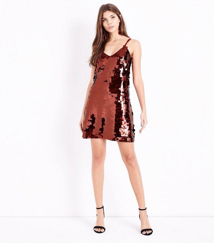 ff71217c ... Burgundy Sequin Slip Dress. ×. ×. ×. Shop the look