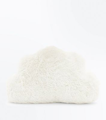 White Fluffy Cloud Cushion New Look