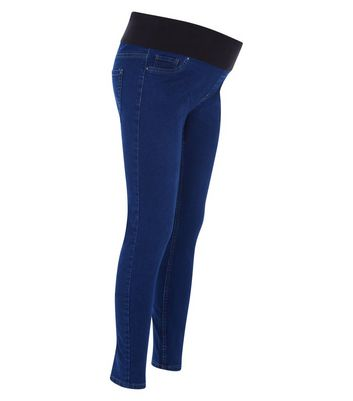 Maternity Blue Under Bump Jeggings New Look