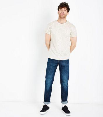 Stone Spray Wash T-Shirt New Look