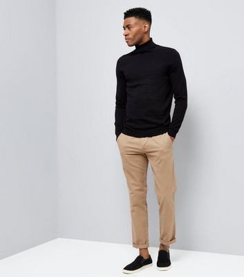 Black Roll Neck Jumper New Look