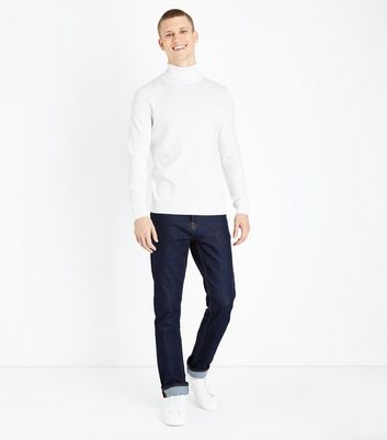 Off White Roll Neck Jumper New Look