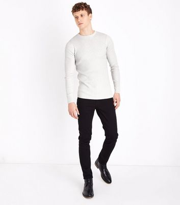 Cream Cotton Ribbed Jumper New Look
