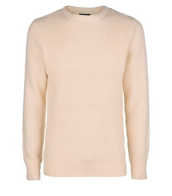 Pink Crew Neck Textured Jumper New Look