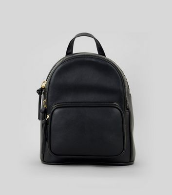 Black Mini Backpack New Look