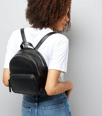 Schwarzer Mini Rucksack Für später speichern Von gespeicherten Artikeln entfernen