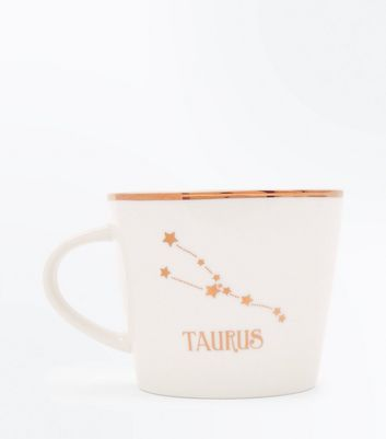 Shell Pink Taurus Zodiac Mug New Look