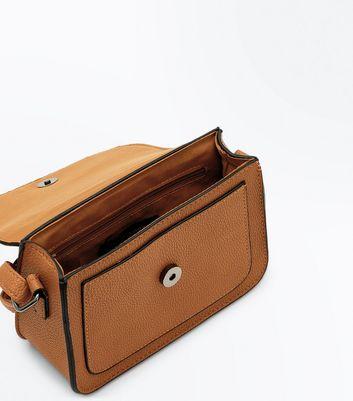 Tan Hexagonal Stud Cross Body Bag New Look