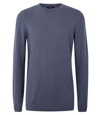 Blue Crew Neck Jumper New Look