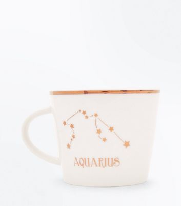 Shell Pink Aquarius Zodiac Mug New Look