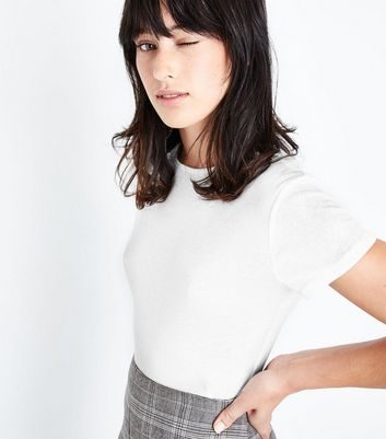 White Fitted T-Shirt New Look