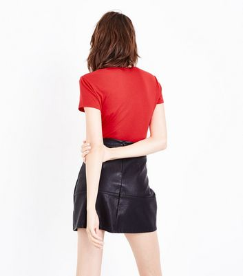Red Fitted T-Shirt New Look