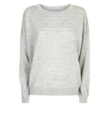 JDY Grey Ribbed Jumper New Look