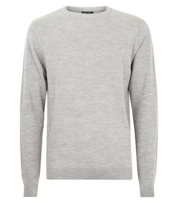 Stone Textured Knit Jumper New Look