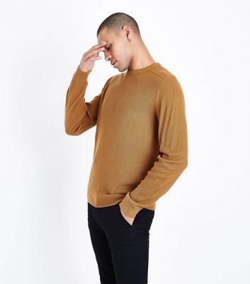 Mustard Textured Knit Jumper New Look