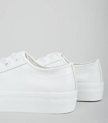 Wide Fit White Chunky Sole Trainers New Look
