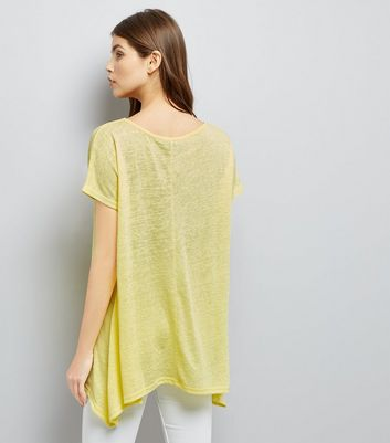 Yellow Hanky Hem T-Shirt New Look